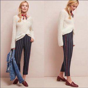 ANTHRO ETTA:TWA Stripe Navy Pants